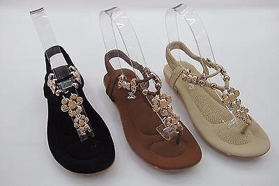 Damas Mujeres Plana confort único Floral Verano Playa Dres ESLINGA vuelta Sandalia Zapatos