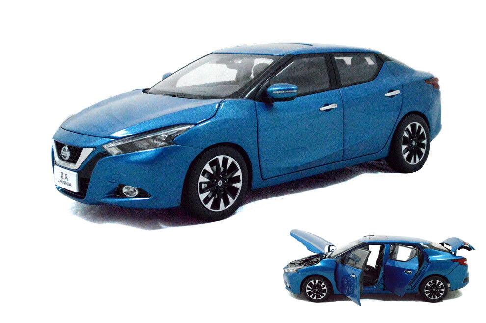 1 18 1 18 Scale Nissan lannia (Maxima) 2015 bleu Diecast Voiture Modèle paudimodel