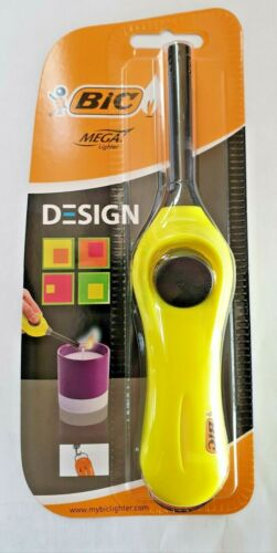 Brand New Bic Mega Lighter Multi Disposable Lighter For BBQ And More yellow