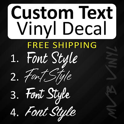 Custom Text Vinyl Decal Sticker Window LetteringHandwritten Script Style 753