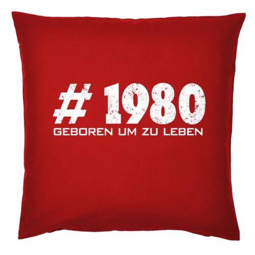 Jahrgang 1980 Deko Kissen 40 Geburtstag Kissen 40 Jahre Papa Mama Oma Opa