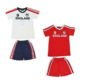 Aelstores Football Summer Shorts Boys New Girls Top T-Shirt Vest Kit Set Size Age 3-14 Years BNWT