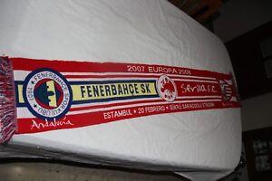 BUFANDA-CHAMPIONS-LEAGUE-VINTAGE-SEVILLA-FC-FERNERBAHCE-TURQUIA-VINTAGE-SCARF