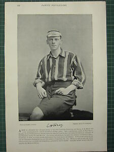 1897-PRINT-FAMOUS-CRICKET-PLAYERS-F-H-BRAY-READING-CHARTER-HOUSE