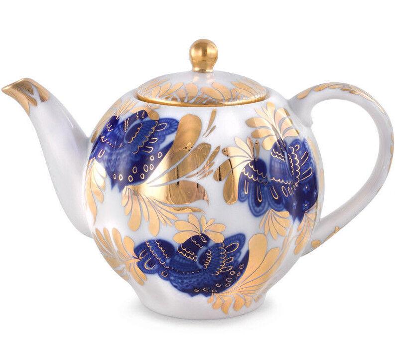 20 fl oz Brewing Teapot. Imperial Lomonosov Porcelain oren Garden Tea Pot