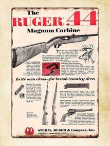 Ruger Firmarms Gun Tin Sign Handgun Ruger Gun Sign Tin Metal Mancave Barn Art
