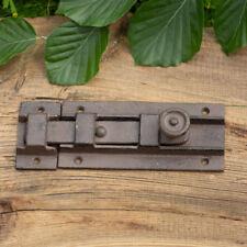 Schieberiegel Gusseisen, braun, Schubriegel nostalgischer Flachriegel - L.20 cm