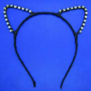 Women Girls CAT EARS Bling Rhinestone Lace Headband Hair Band Hairband Colors