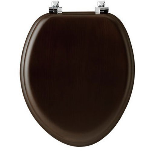 Wooden Toilet Seats Wood Elongated Oblong Natural Walnut Throne Plumbing Lid Top