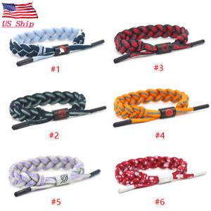 Naruto Fashion Adjustable Shoelace Rope Bracelets Anime Wristband Bangles Gift