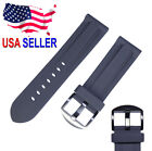 24mm 26mm Replacement Rubber Diver Watch Band With Thumbnail Buckle Fits Panerai