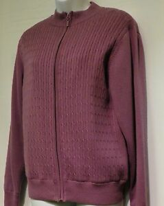 LADIES-LINED-CABLE-KNIT-SWEATER-SMALL