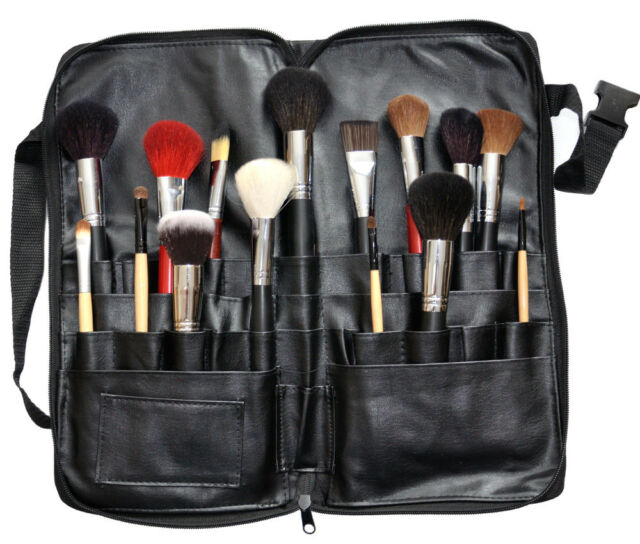 Professionelle Pinsel Tasche mit Gürtel  für Make up Kosmetik set  Etui
