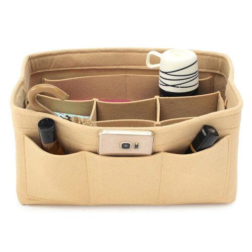 Filz Einsatz Ordnertasche in Bag Handtasche Viele Taschen Portemonnaie Make-Up