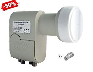 Digital-Quad-LNB-lnc-4-participantes-0-1db-3d-Sky-HDTV-ahorra-solo-160ma-electricidad
