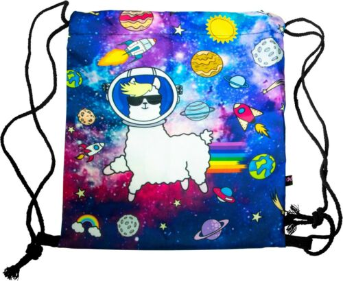 Pealu-Space Lama Turnbeutel Sport Sachet-All Over Print avec cordon de serrage