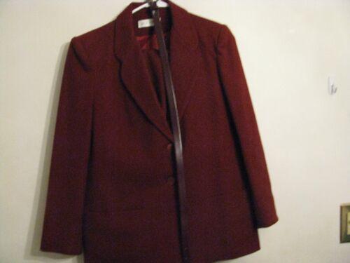 Size Lined 1970's Retro Pc Maroon 10 Wool Winter Jack 3 giacca gonna Suit pantaloni CxgwpzqU
