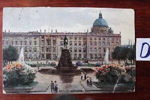 HonnêTe Carte Postale Vue Carte Berlin Lithographie Berlin Château-afficher Le Titre D'origine