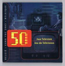Belgie , BU set 2003 , 50 JAAR TELEVISIE