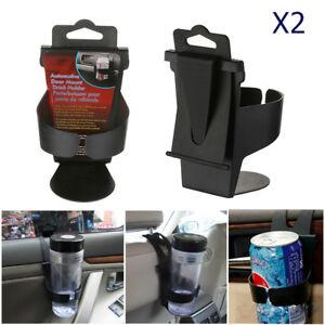 2x-Auto-Voiture-Porte-gobelet-Pliable-Bouteille-Canettes-Boisson-Noir