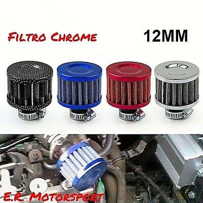 Bestlymood 12MM Filtro Aria Filtro Aria Conico Recupero VAPORI Olio Moto Auto Rosso Red