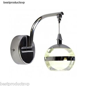 Led Wall Sconce Light Fixtures : Indoor Wall Light Fixture Sconce Modern Bathroom Chrome Vanity Crystal Mini Led eBay