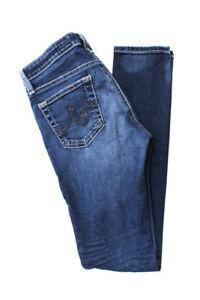 AG-Adriano-Goldschmied-Womens-Skinny-Jeans-Medium-Wash-Cotton-Size-27