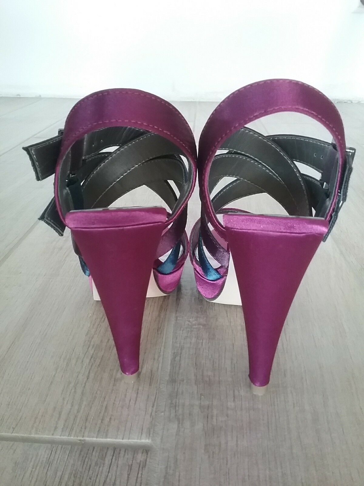 High satin heels platform satin High multicolor shoes Laura Biagiotti 55a9f2