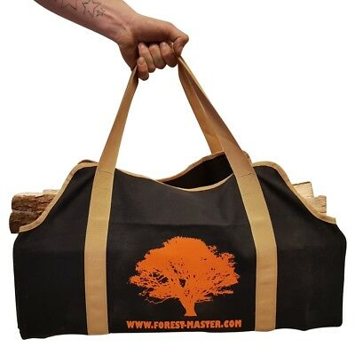 Heavy Duty Canvas Log Carrying Bag Durable Firewood