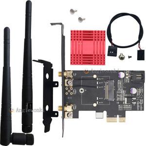 NGFF-Wireless-Card-To-PCIe-1X-8X-16X-Desktop-WIFI-WLAN-CARD-bracket-Tray-Adapter