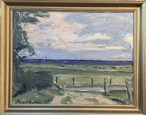 Expressive-Borge-Bokkenheuser-1910-1976-at-the-Ostsee-Denmark-24X29-7-8in