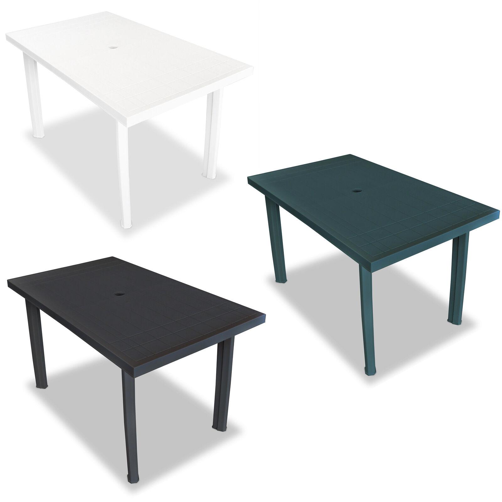 VidaXL Gartentisch Kunststoff Campingtisch Esstisch Tisch Weiß Grün Anthrazit