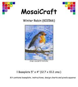 MosaiCraft-Pixel-Craft-Mosaic-Art-Kit-039-Winter-Robin-039-Pixelhobby-like-Mini-Mosaic