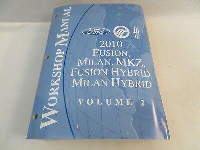 2010 ford fusion milan mkz hybri wiring diagrams service workshop #2 manual  oem