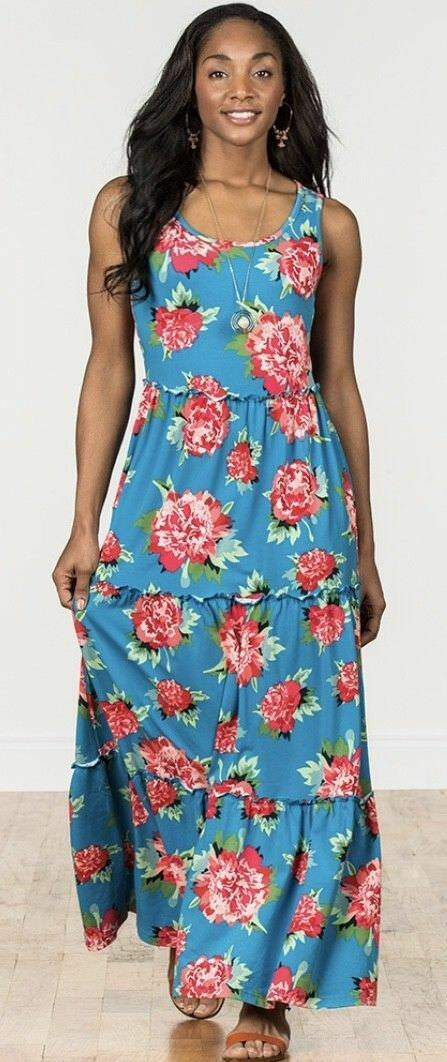 NWT Womens Matilda Jane Camp MJC No End Maxi Dress Dress Dress Size Medium Sold Out d51bcb