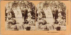 Mariage-Sera-Da-Reception-1897-Foto-Stereo-Vintage-Albumina