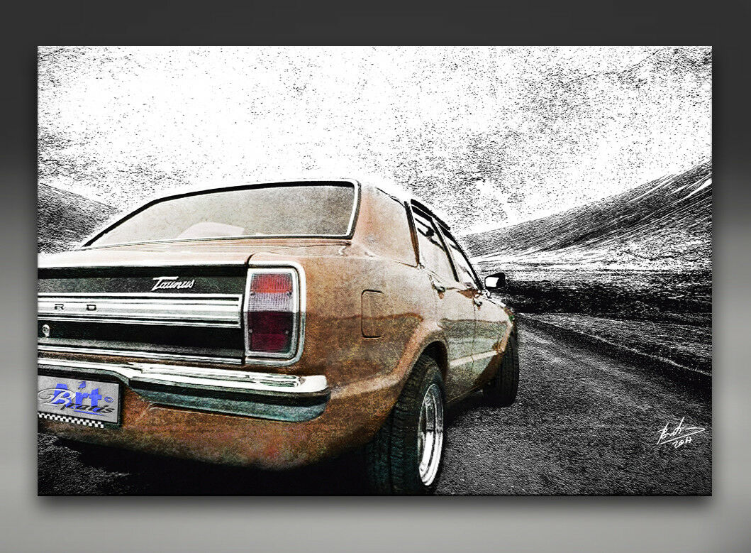 FORD FORD FORD TAUNUS Voiture Oldtimer Abstrait Deco Images Toile D'art LA FRESQUE 1317 a | Caracteristique  5cae75