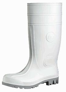 PVC-Stiefel Arbeitsschuhe weiße Gummistiefel 38 cm WHITEMASTER S4 Gr. 37-48