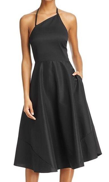 Betsey Johnson Black Asymmetrical Halter Fit Flare Dress 0 Ebay