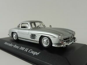 Mercedes-Benz-300-Sl-Coupe-1955-1-43-Maxichamps-940039000-By-MINICHAMPS-Plata