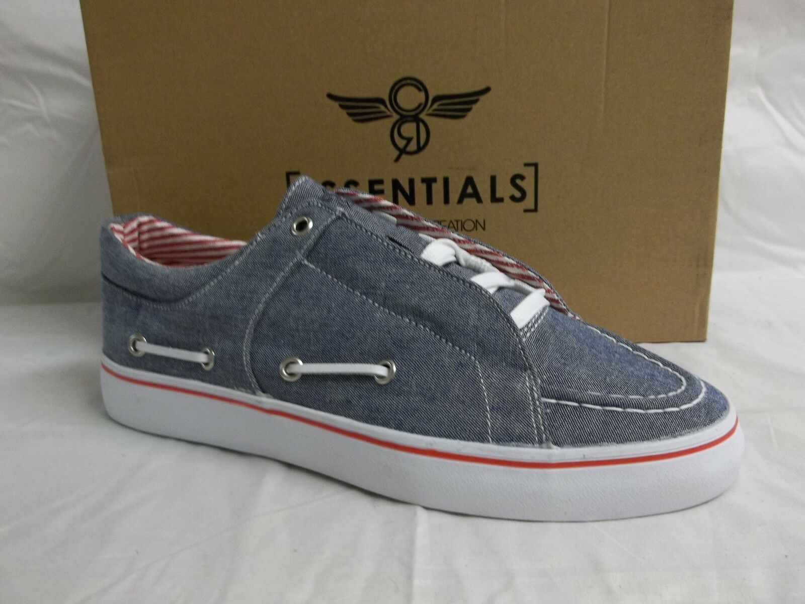 Creative Recreation 7.5 M Luchese Chambray Denim New Womens Boat Shoes