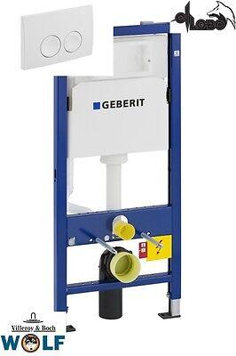 DELTA 51 weiss SPAR SET Geberit Duofix Wand-WC 112 cm UP100