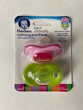 Gerber calming pacifiers first essentials  6-18  months pink new