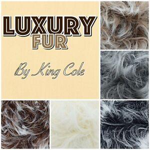 King-Cole-Luxe-Luxury-Fur-Fluffy-Eyelash-Teddy-Bear-Knitting-Yarn-100g-Ball