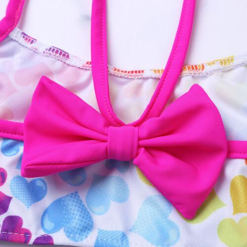 2pcs Girls Strappy Top Bra+Shorts Tankini Swimsuit Swimwear Gymnastics Leotard
