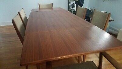Mid Century Danish Dining Table W Chairs S Uldum Johannes Andersen Ebay