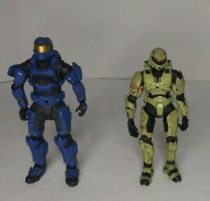 McFarlane-Toys-Halo-Reach-Blue-Mark-V-Spartan-amp-Green-Figures-Lot-2