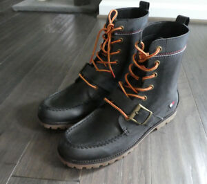 purchase cheap usa cheap sale best sneakers Details about Tommy Hilfiger Men's Narcisco Ranger style boots new black  buckle