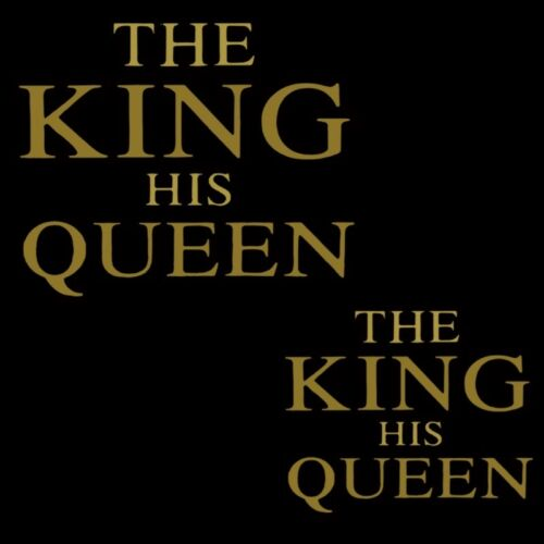 THE KING HIS QUEEN Patches Iron On Appliques T-shirt Press Heat Transfer Sticker