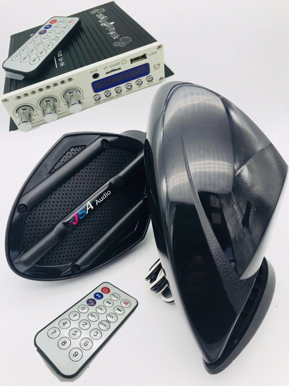 JETSKI 2 SPEAKER KIT STEREO AMP blueETOOTH SYSTEM UNIVERSAL RXT GTS SEADOO DIY